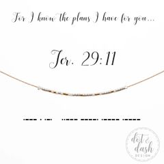 For I know the plans I have for you...Jer. 29:11