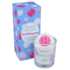 Bubble Gum Piped Candle
