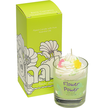 Flower Power Piped Candle
