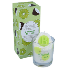 Coconut & Lime Piped Candle
