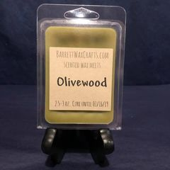 Olivewood scented wax melt.