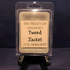 Tweed Jacket scented wax melt.