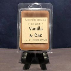 Vanilla & Oak scented wax melt.