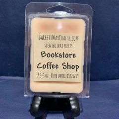 Bookstore Coffee Shop scented wax melt.