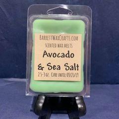 Avocado & Sea Salt scented wax melt.