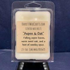 Aspen & Oak scented wax melt.