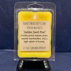 Golden Sweet Pear scented wax melt.