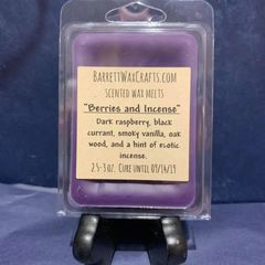 Berries & Incense scented wax melt.