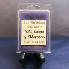 Wild Grape & Elderberry scented wax melt.