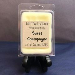 Sweet Champagne scented wax melt.