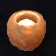 Himalayan Pink Salt tea light holder.