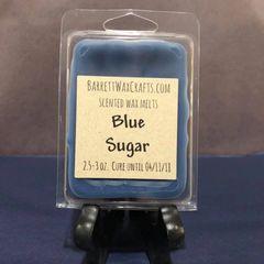 Blue Sugar scented wax melt.