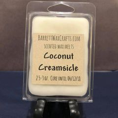 Coconut Creamsicle scented wax melt.