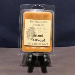 """Aloha Spirit Collection"" Island Teakwood scented wax melt."