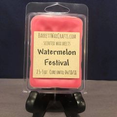 Watermelon Festival scented wax melt.
