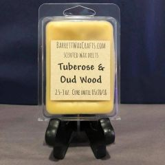 Tuberose & Oud Wood scented wax melt.
