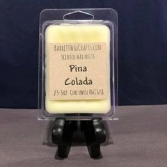Pina Colada scented wax melt.