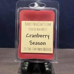 Cranberry Season scented wax melt.