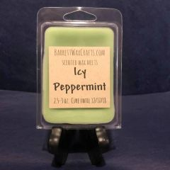 Icy Peppermint scented wax melt.