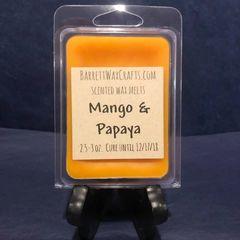 Mango & Papaya scented wax melt.