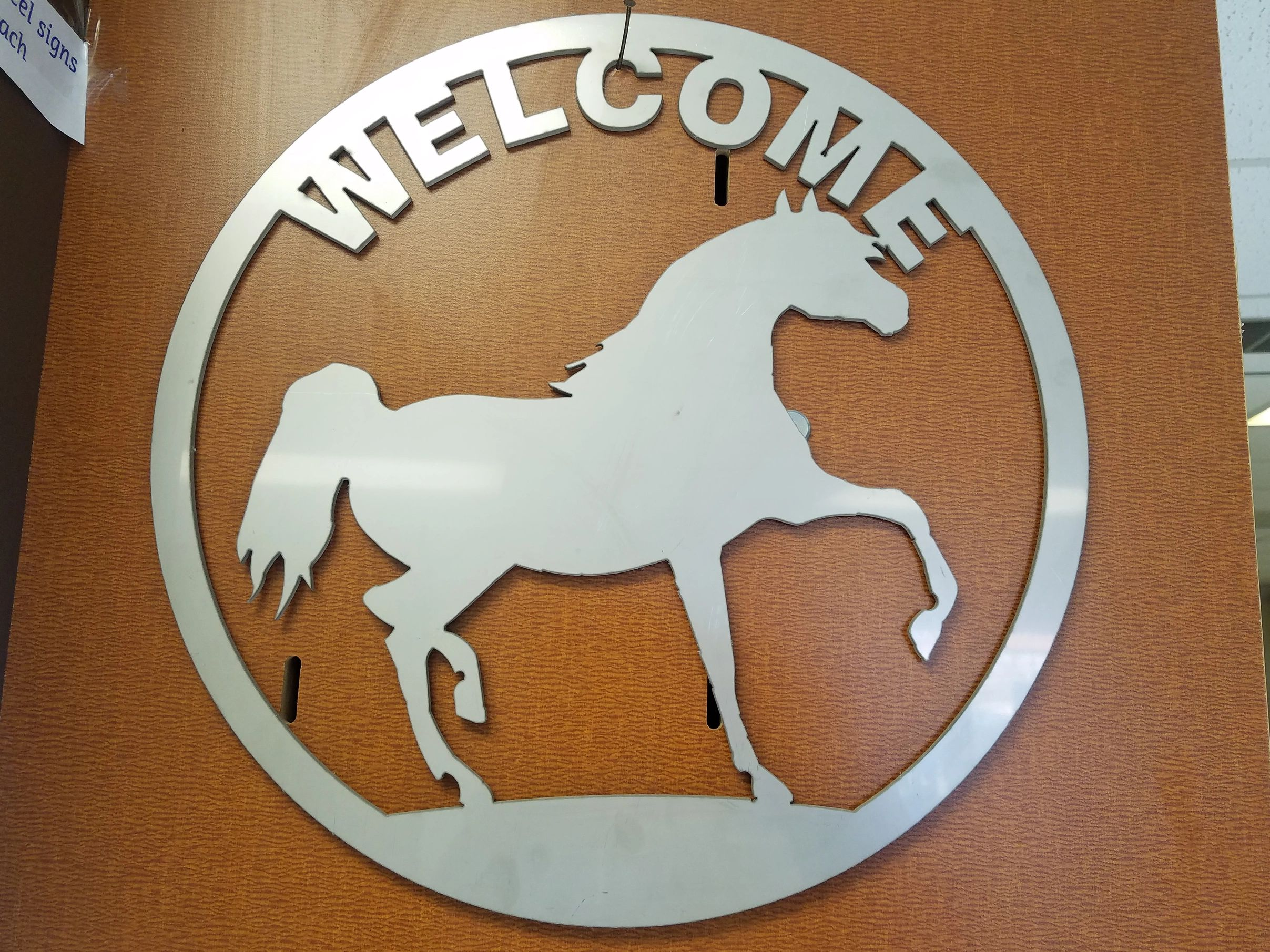 Stainless steel welcome sign for sale