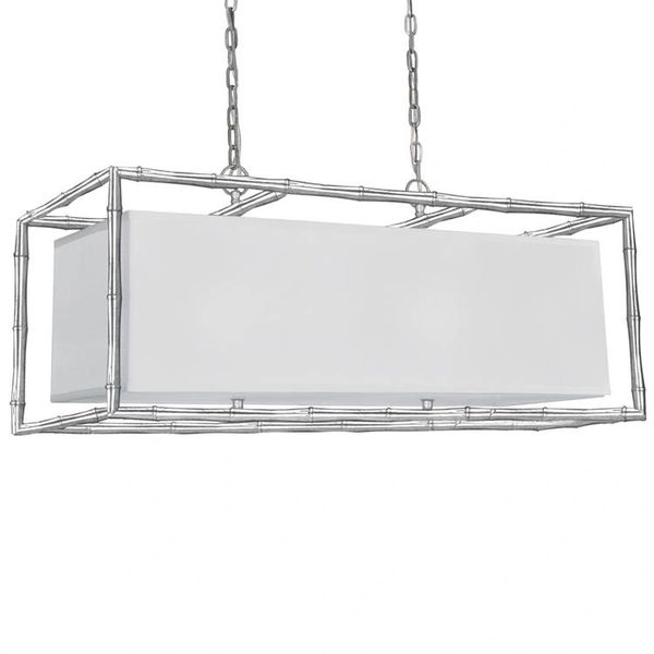 Crystorama Chandelier Modern Silver Libby Langdon