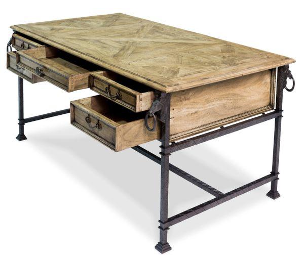 Industrial Desk w/ Iron & Walnut