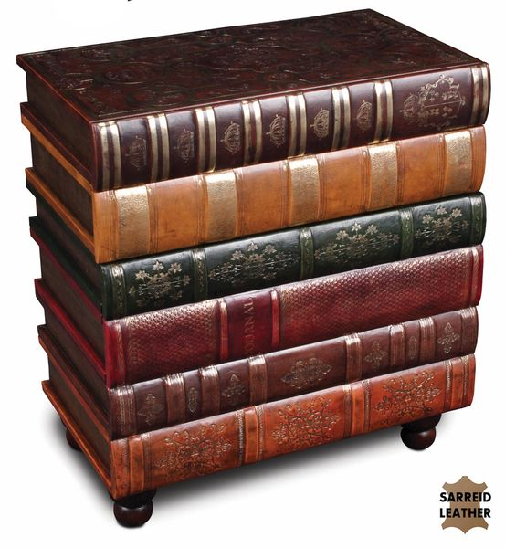Book Side Table Storage Chest Large