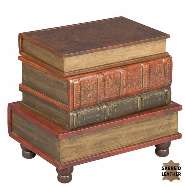 Book Side Table Storage Chest