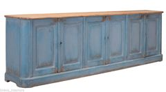 Blue Sideboard Cabinet 10' Long French