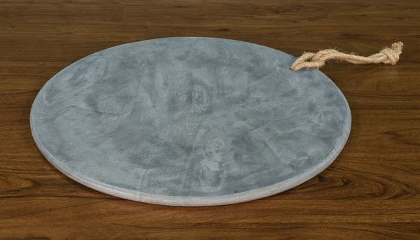 "Large Charcuterie Board Marble 20"" Diameter"