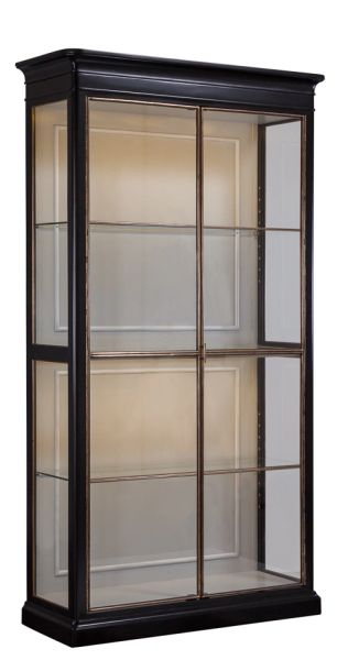 Etagere Bookcase Solid Walnut & Glass