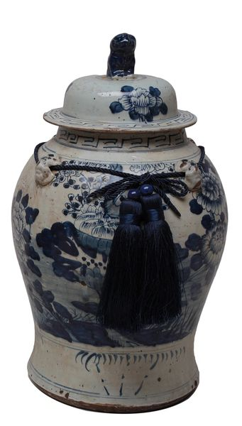 Porcelain Jar with Tassel