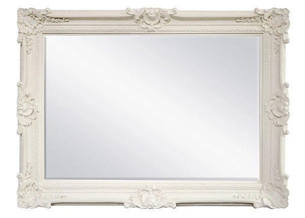 Antique White Mirror Large