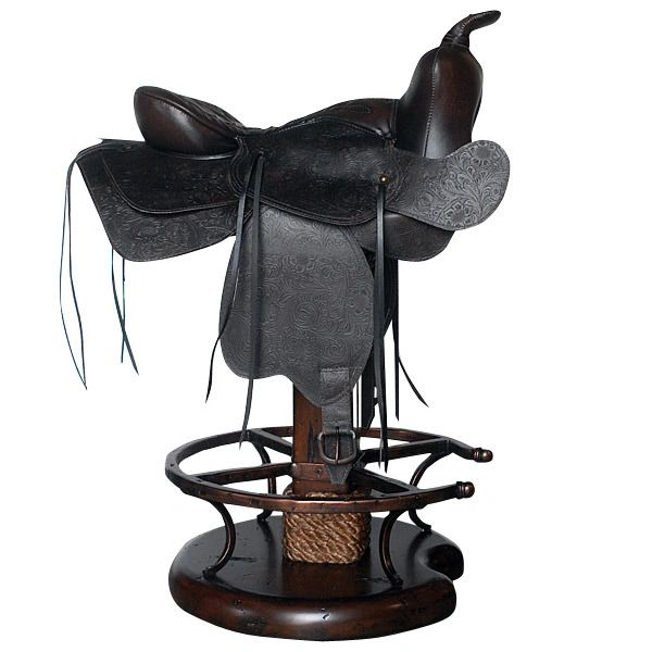 Saddle Counter Stool Cowboy Western Chair