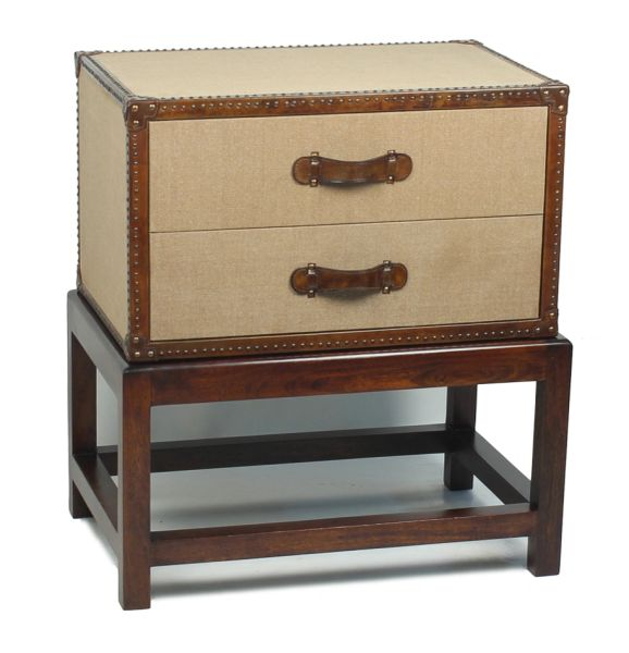 Chest On Stand in Natural Canvas