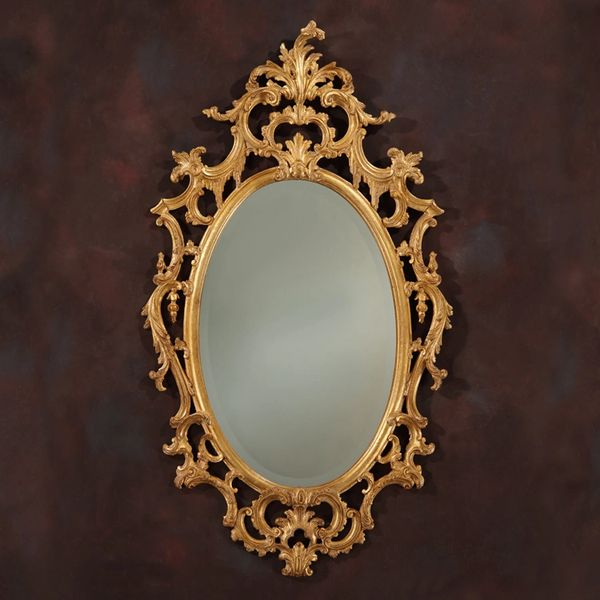 Chippendale Mirror in Goldleaf Made in Italy