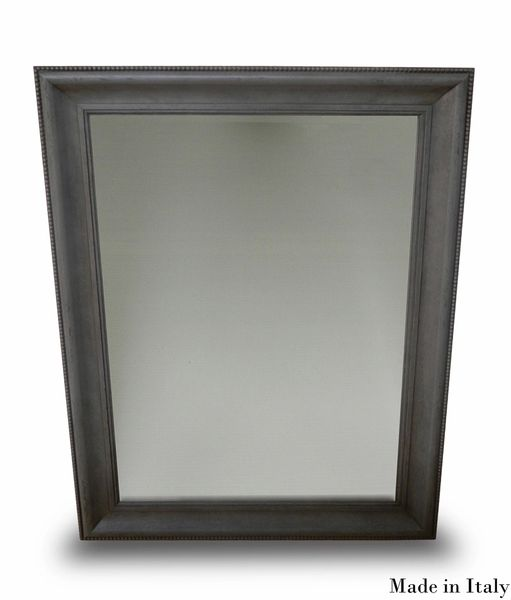 Rectangular Mirror in Sleek Grey Modern