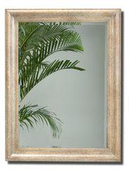 Rectangular Mirror in Beige w/ Spatula Finish