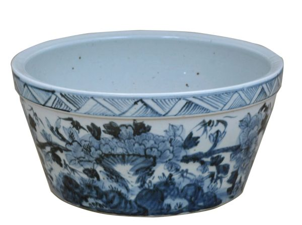 Water Bowl Painted Blue and White Porcelain