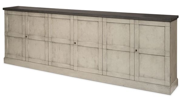 Minimalist Sideboard in Washed Gray Pine
