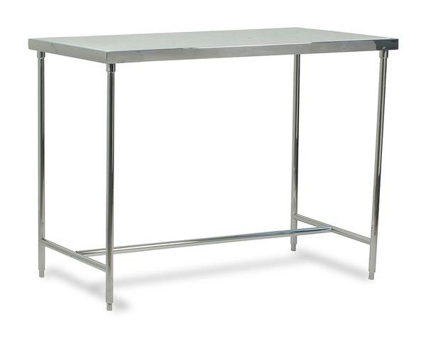 Kitchen Prep Table Marble Top Chrome Finish Bravo Interiors