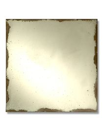 Antiqued Mirror Set of 16 Squares