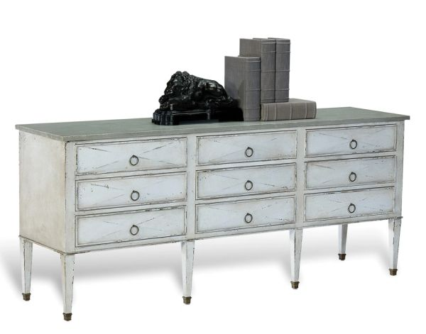 Quartz Sideboard White Gray Dining Cabinet