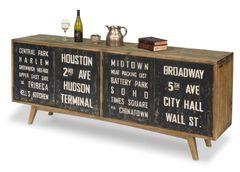 NYC Sideboard Cabinet Storage Mid Century
