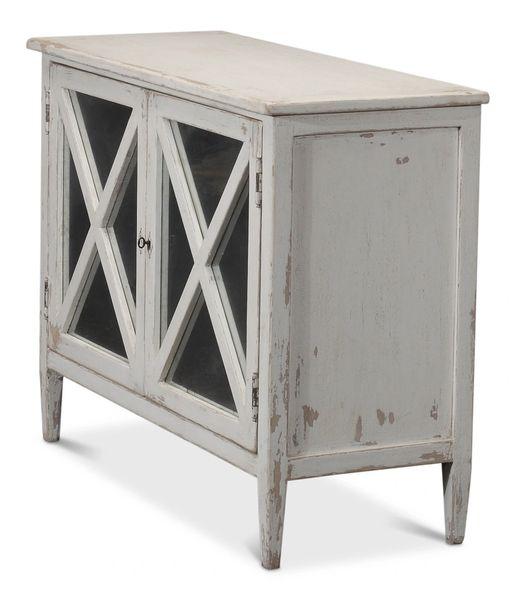 White Cabinet Antiqued Reclaimed Pine | Bravo Interiors