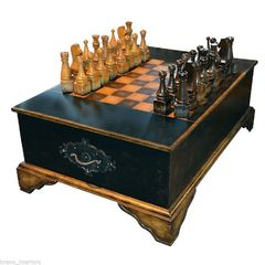 Chess Coffee Table w/ Pieces