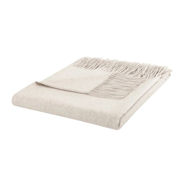 Blanket Cashmere Throw Fringe Edge