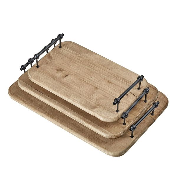 Charcuterie Board Set of 3 Palermo Wood Trays