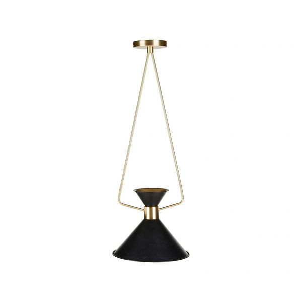 Pendant Light Mid Century Modern Black Gold